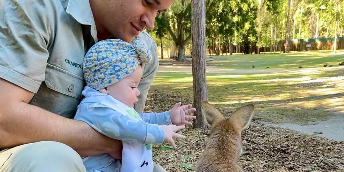 Bindi Irwin's Baby Grace Warrior, 5 Months, Meets a Wallaby: 'I Just Want to Hug You'.jpg