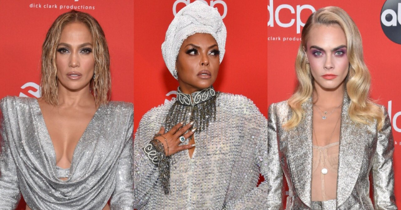 The AMAs Red Carpet Was Decked Out in Silver and Sparkle