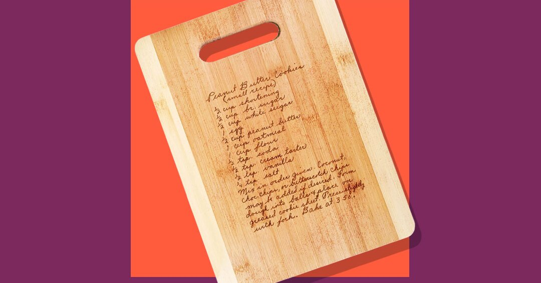 Recipe-Engraved Cutting Boards Make the Most Meaningful Holiday Gift
