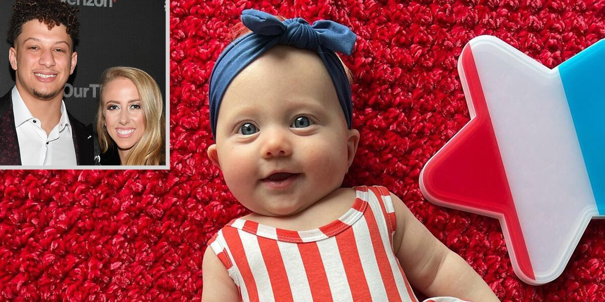 Brittany Matthews and Patrick Mahomes' Infant Daughter Gets Patriotic for First Fourth of July.jpg