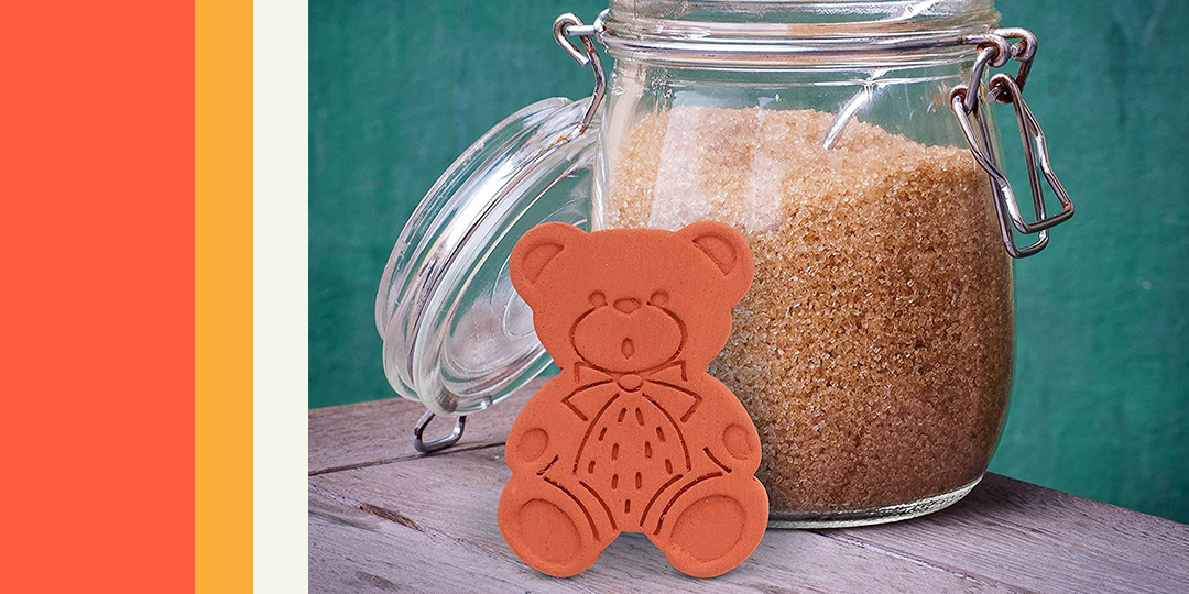 this bear shaped tool keeps brown sugar soft for up to 6 months