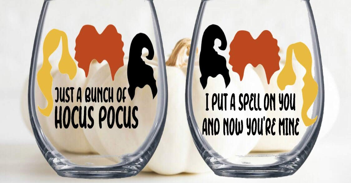 These 'Hocus Pocus' Wine Glasses Are What We Need for the Countdown to Halloween