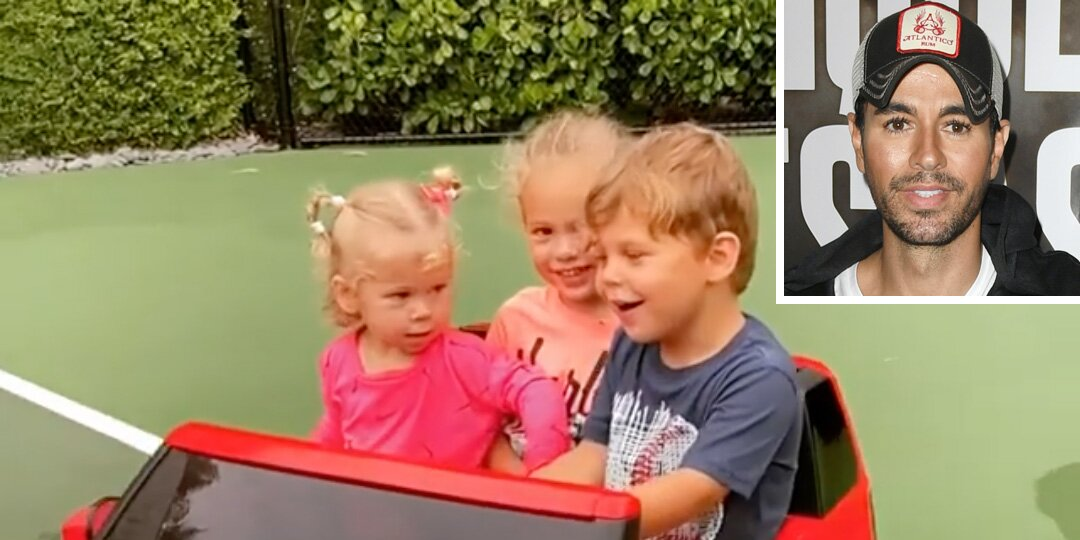 Enrique Iglesias' Wife Shares Rare Video of Their 3 Kids Driving Around While Playing Dad's Music.jpg