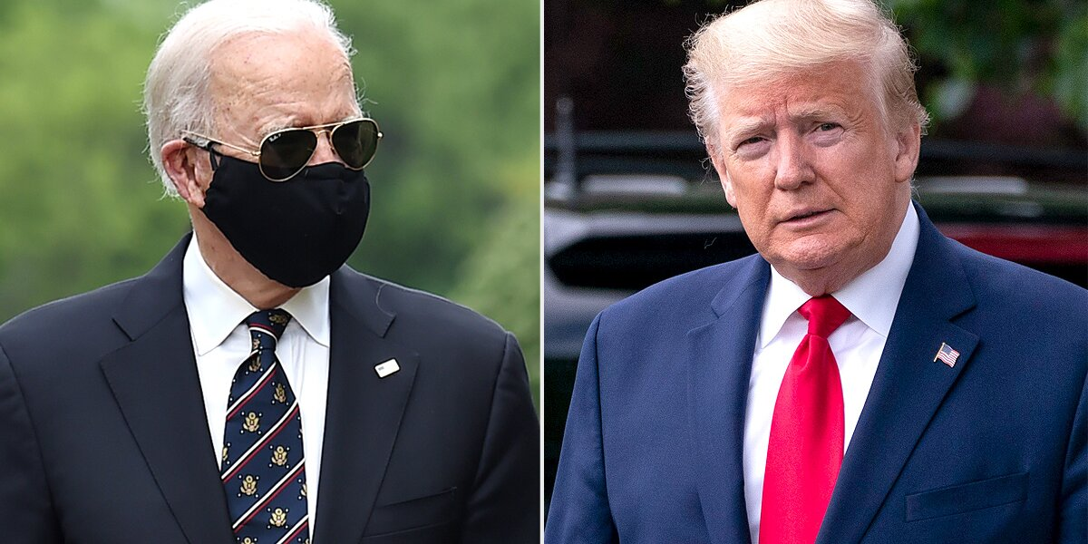 How Donald Trump and Joe Biden Reacted to the 200,000 U.S. Lives Lost to COVID-19 So Far
