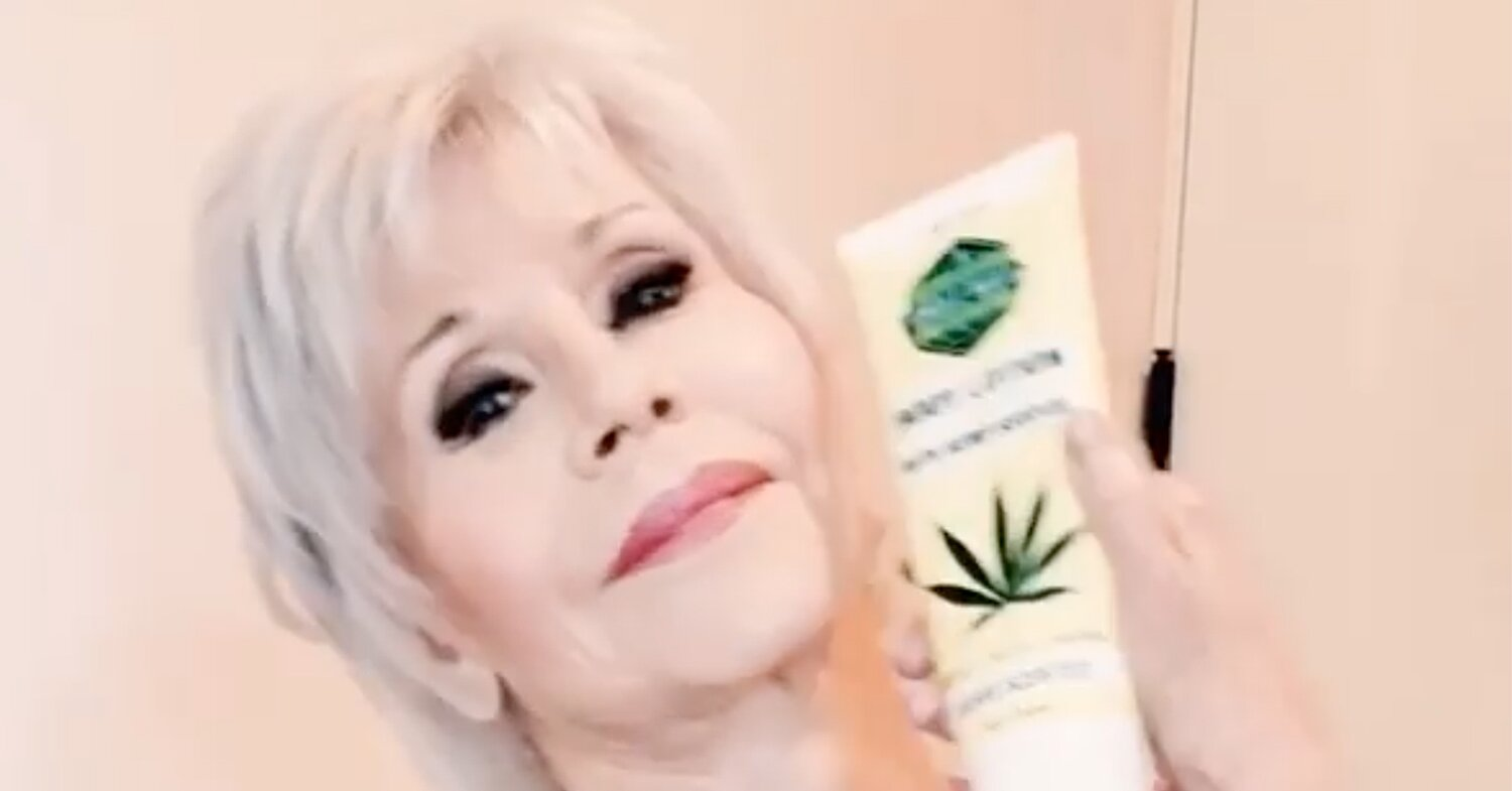 Jane Fonda Just Discovered CBD Beauty Products - and She's Going to Convince You to Jump on Board