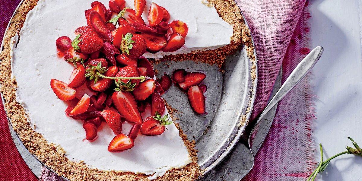 Strawberry-Rhubarb Pretzel Pie Recipe   Southern Living