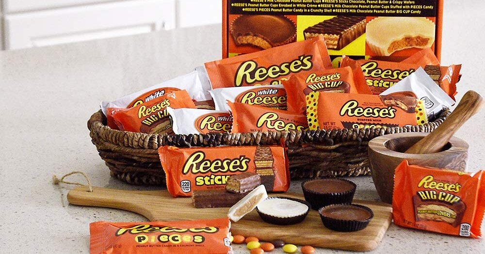 This Giant Reese's Variety Pack Features 30 Peanut Butter and Chocolate Candies