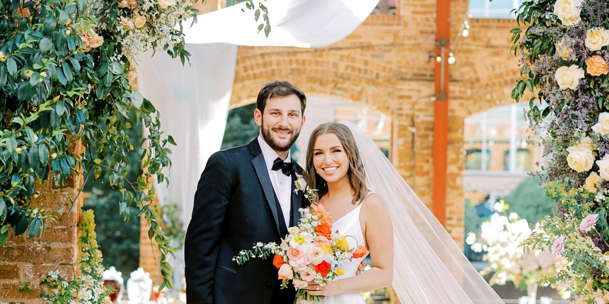 It Was Flower Central at This Couple's Open-Air Venue in Greenville, South Carolina