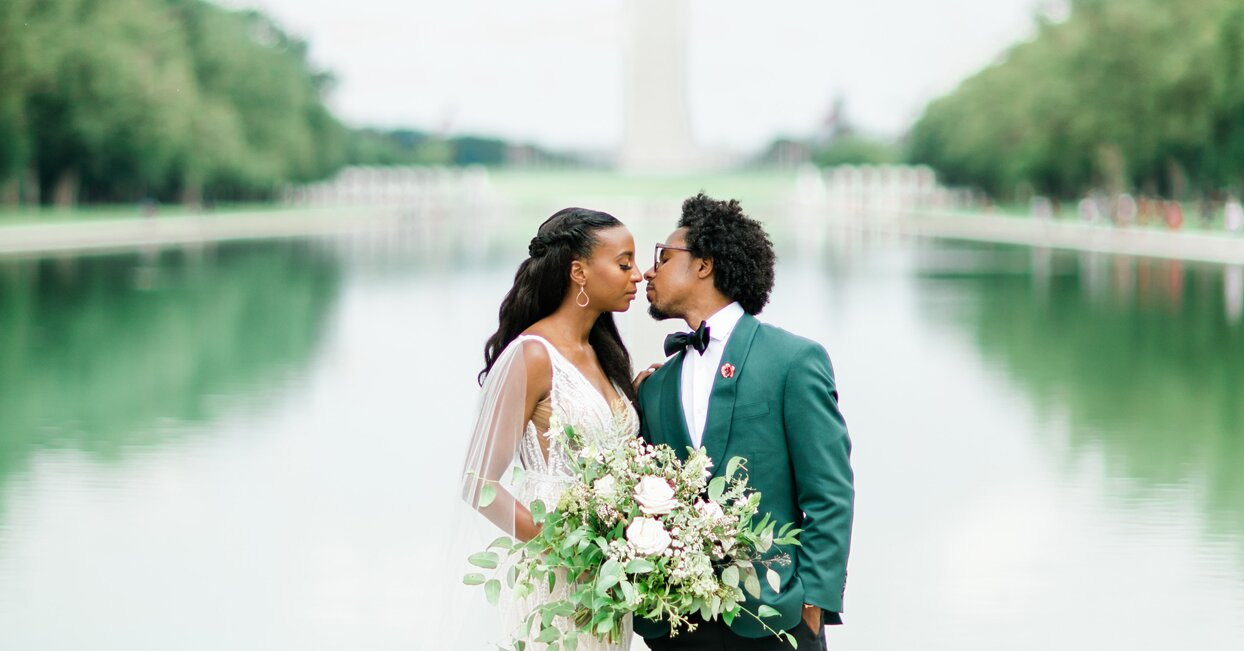 This Couple's Wedding in Washington, D.C., May Have Been Small, But It Was a Major Celebration