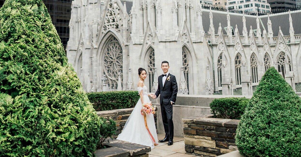 A Rooftop Garden Wedding in Midtown Manhattan