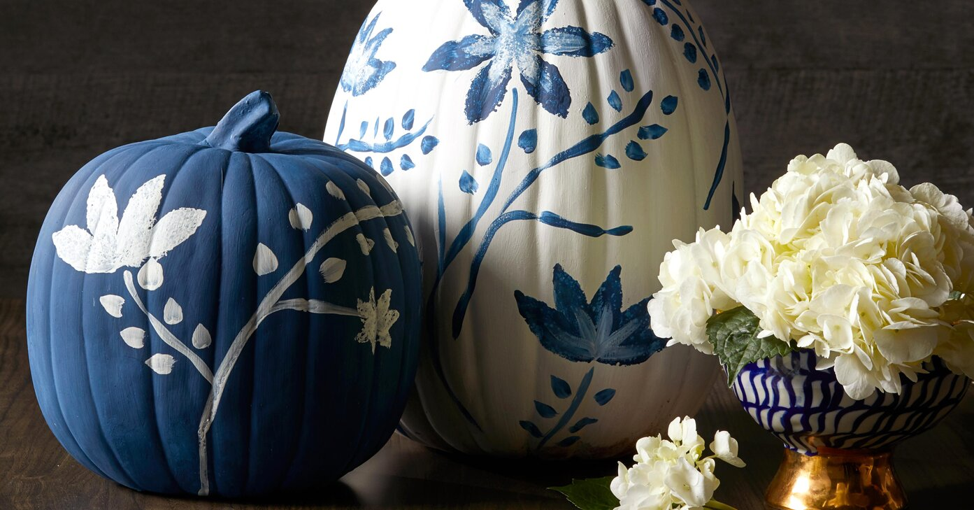 Chinoiserie Pumpkins Are the Elegant Fall Accent Your Home Needs