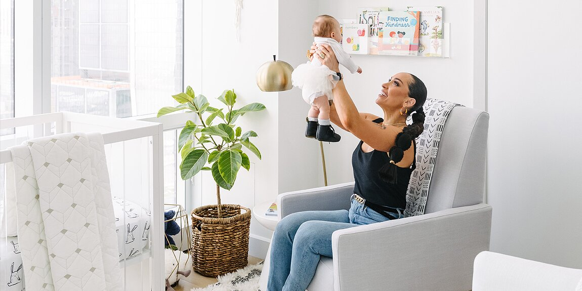 See Inside Robin Arzón's Modern Nursery with 'Touches of Bling' for Daughter Athena, 3 Months.jpg