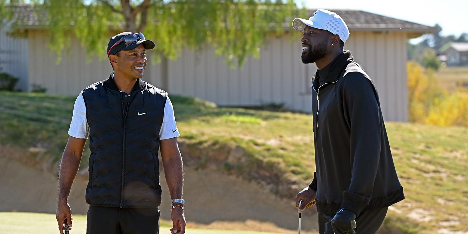 Tiger Woods Corrects Dwyane Wade After Basketball Star Calls Him the GOAT: 'I'm Not There Yet'
