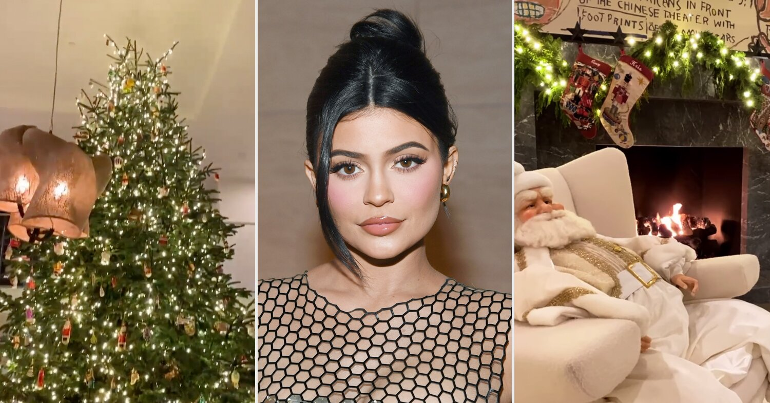 Kylie Jenner Shows Off Her Towering 2020 Christmas Tree: 'It's Right at the Ceiling'