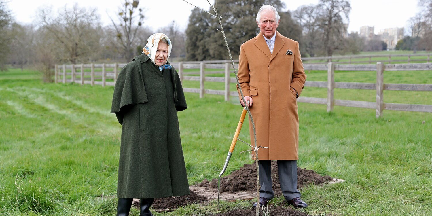 Why Queen Elizabeth and Prince Charles Planted a Tree Together at Windsor Castle