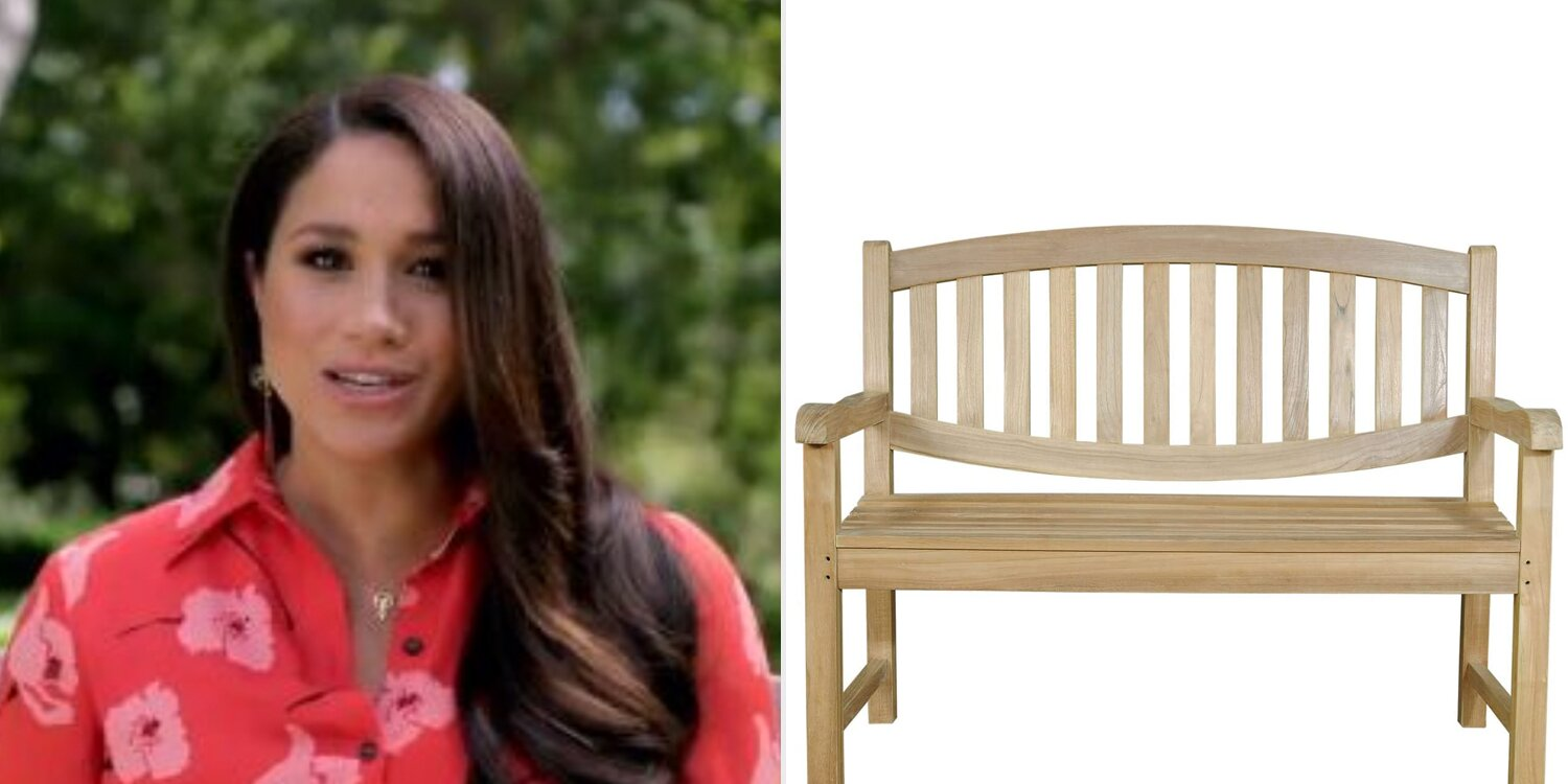 Meghan Markle's Vax Live Appearance Featured a Famous Bench — and We Found Lookalikes on Amazon.jpg