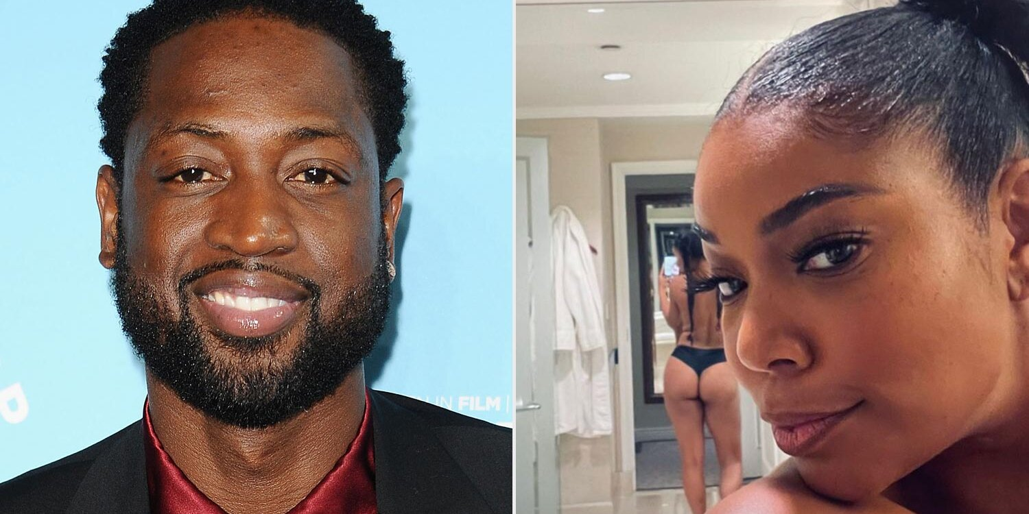 Dwyane Wade Shares a Steamy Topless and Cheeky Photo of Wife Gabrielle Union: 'This is 48'.jpg