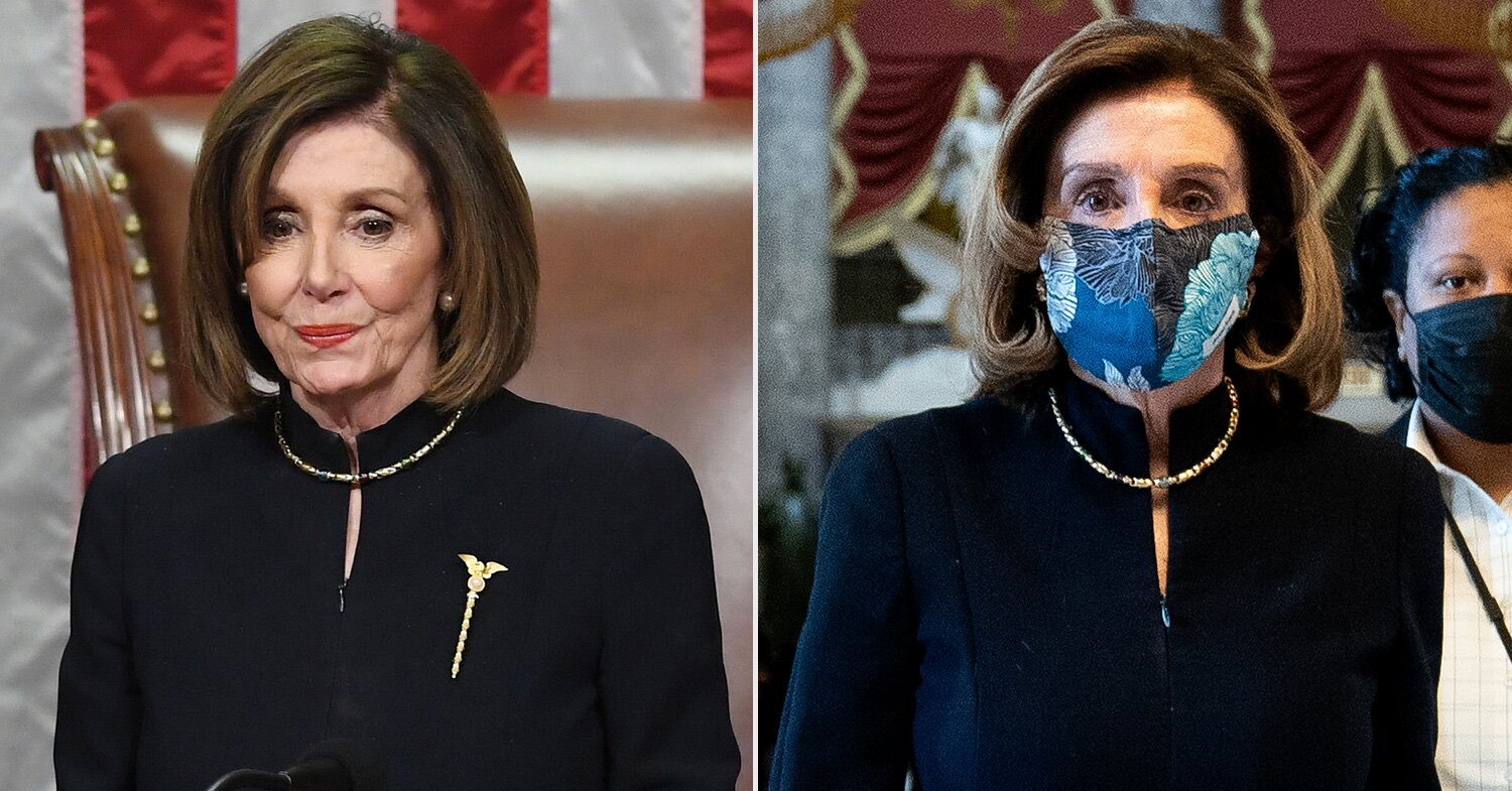 Nancy Pelosi Again Wears Symbolic Outfit to Oversee Trump's Second Impeachment