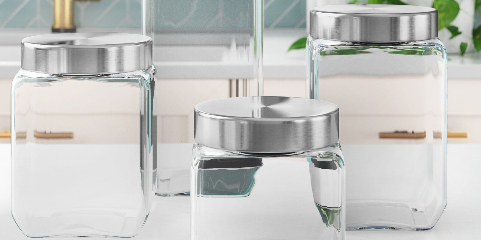 these best selling wayfair basics glass canisters are only 16