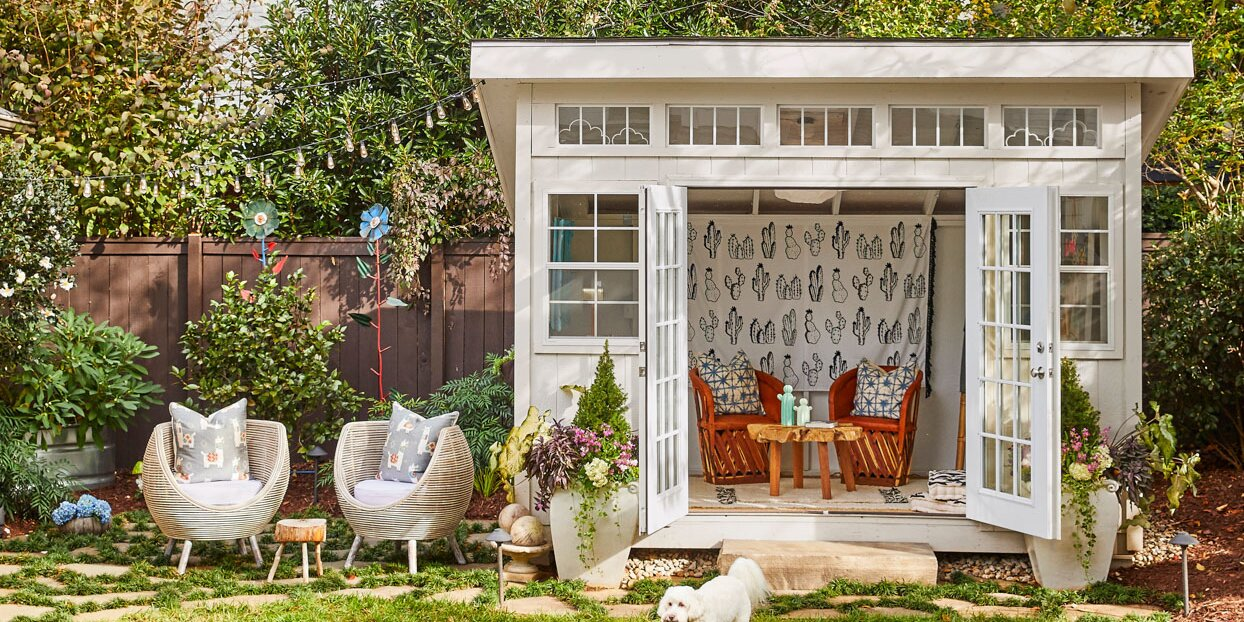 This Prebuilt Garden Shed Became the Ultimate Preteen Hangout with a Few Easy DIY Upgrades