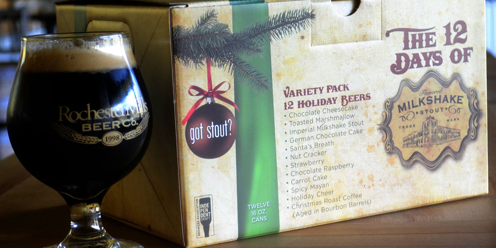 Rochester Mills 2 Days Of Christmas 2021 Get Your Milkshake Stout In A Holiday 12 Pack Yes We Said Milkshake Stout Food Wine