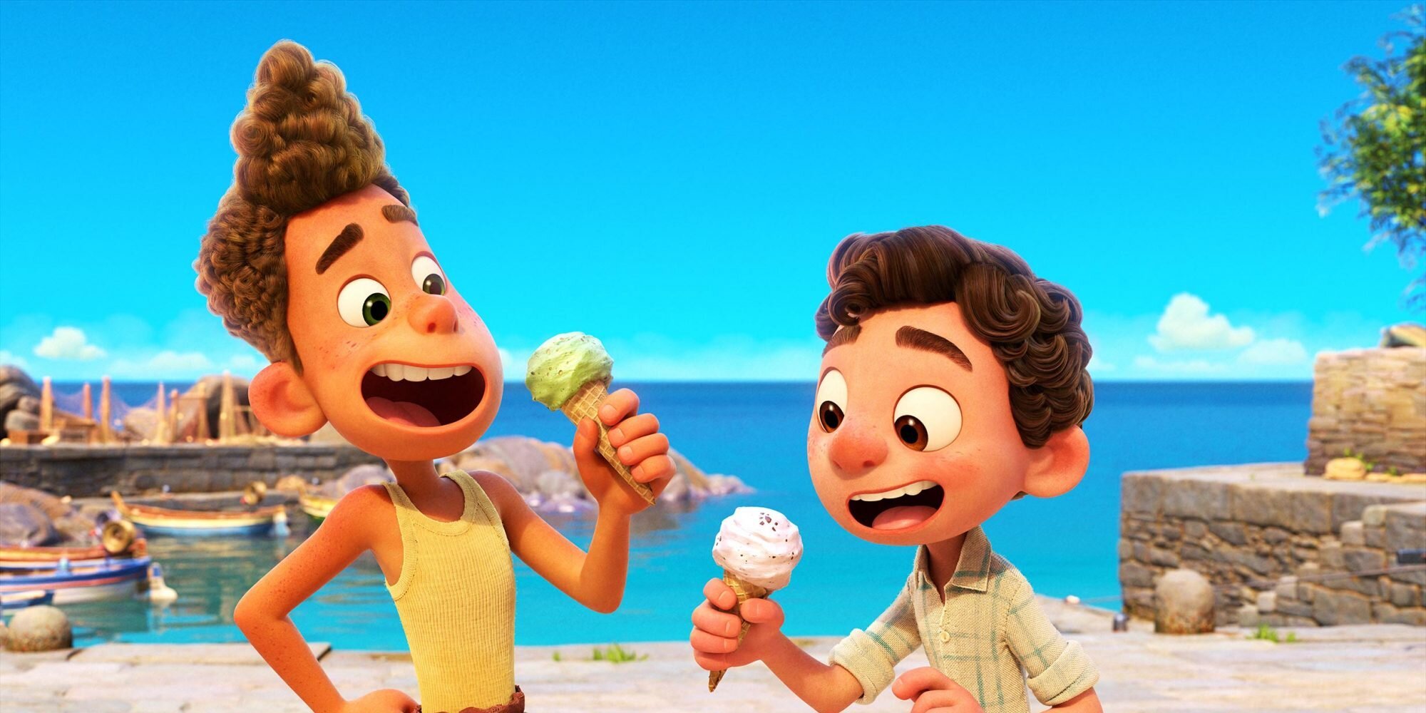 Pixar reveals new look at Luca with a sun-kissed poster.jpg