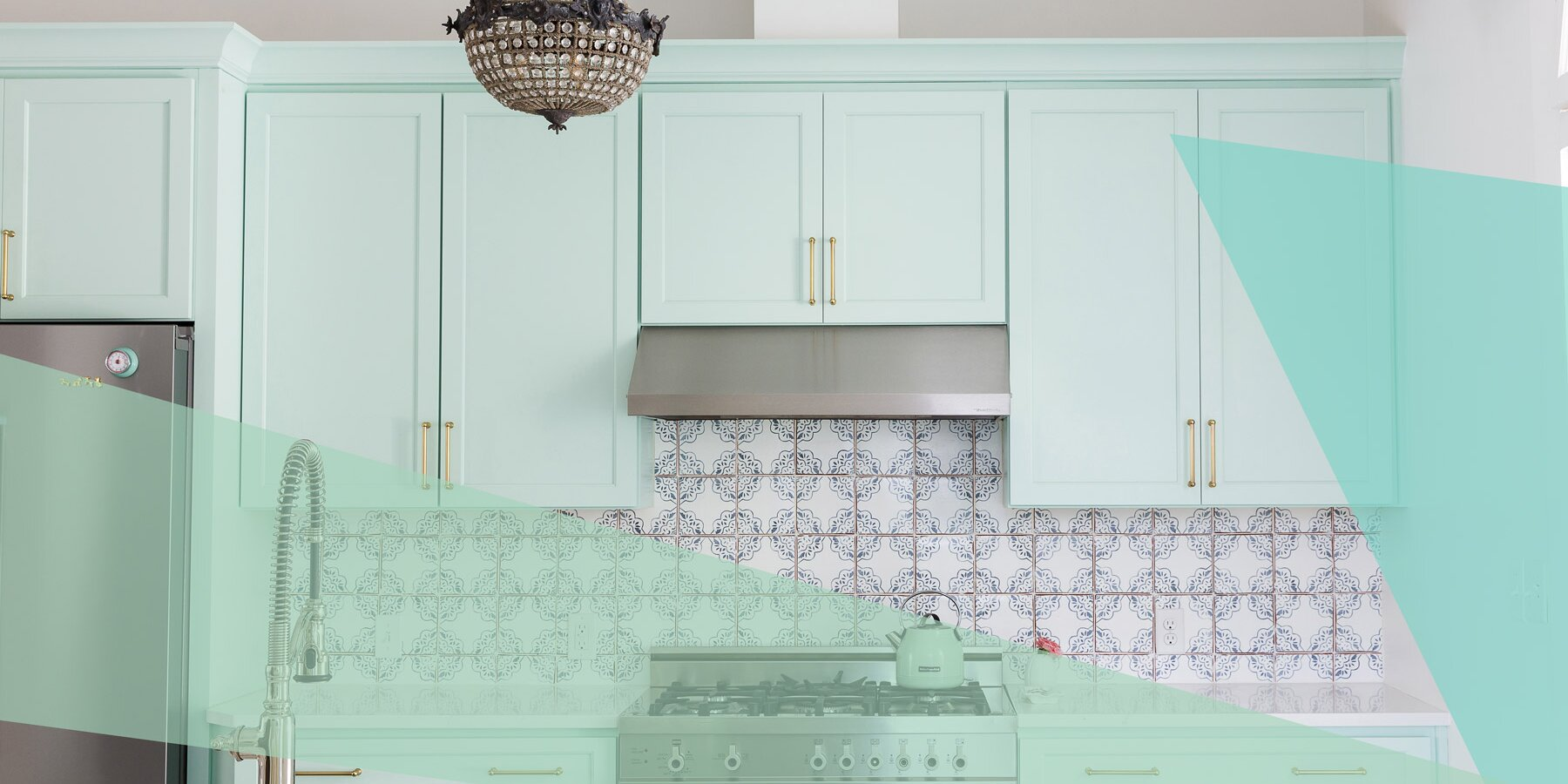 Mint Green Is the Unexpected Kitchen Cabinet Color Your Small ...