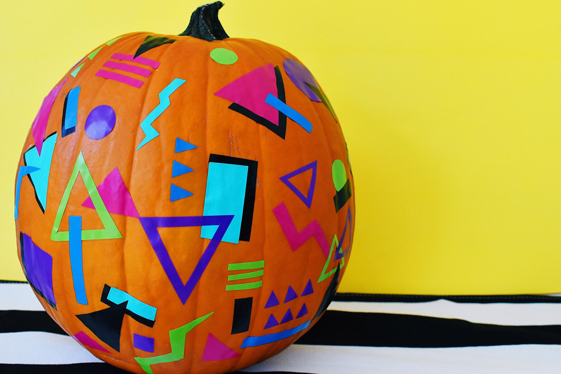 The Easiest Ever No Carve Pumpkin Decorating Ideas Real Simple