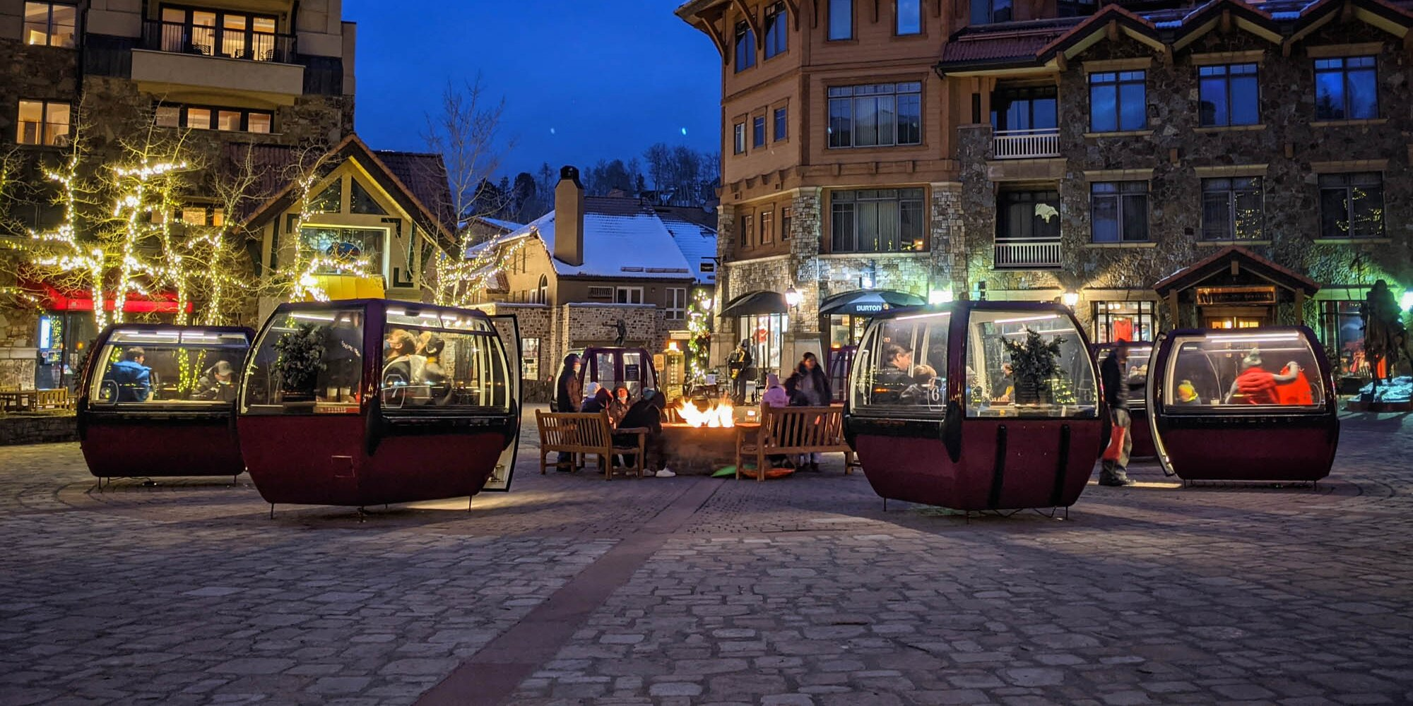 Old Ski Gondolas Find New Life as Private Dining Rooms