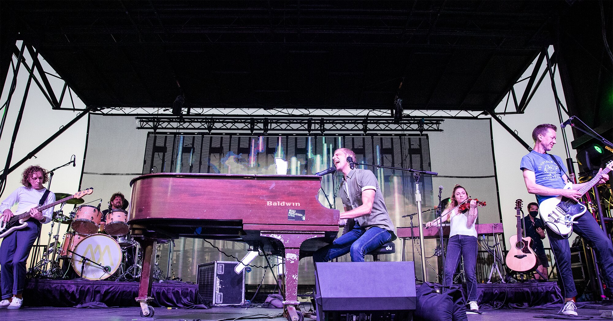 What it was like seeing Andrew McMahon's socially distanced drive-in concert