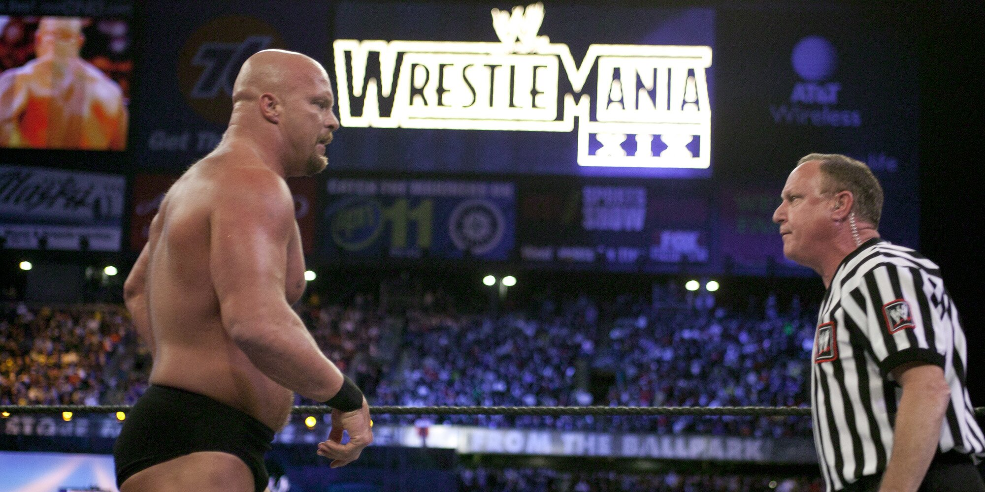 Stone Cold Steve Austin gets emotional at The Rock WWE fight