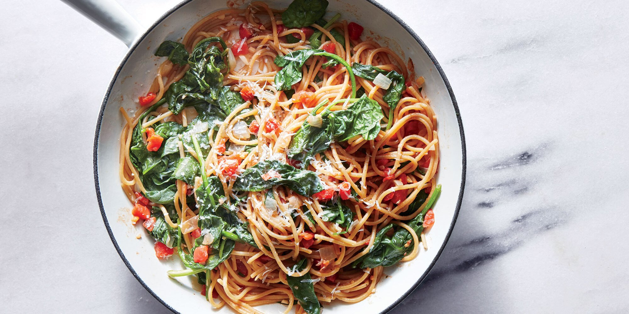 One-Pot Pasta with Spinach and Tomatoes Recipe