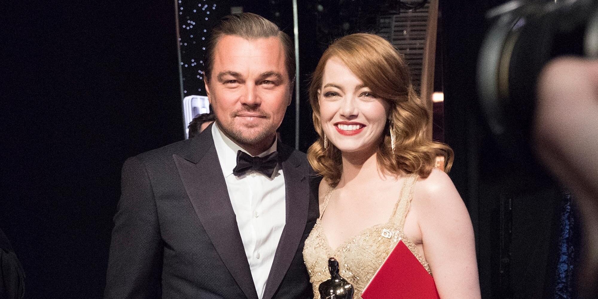 Emma Stone gushes about getting her Oscar from childhood crush Leonardo DiCaprio