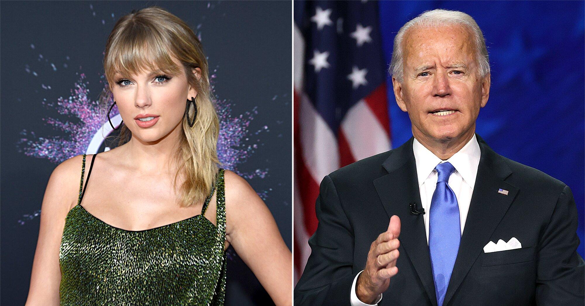 Taylor Swift Is Supporting Joe Biden For President Ew Com