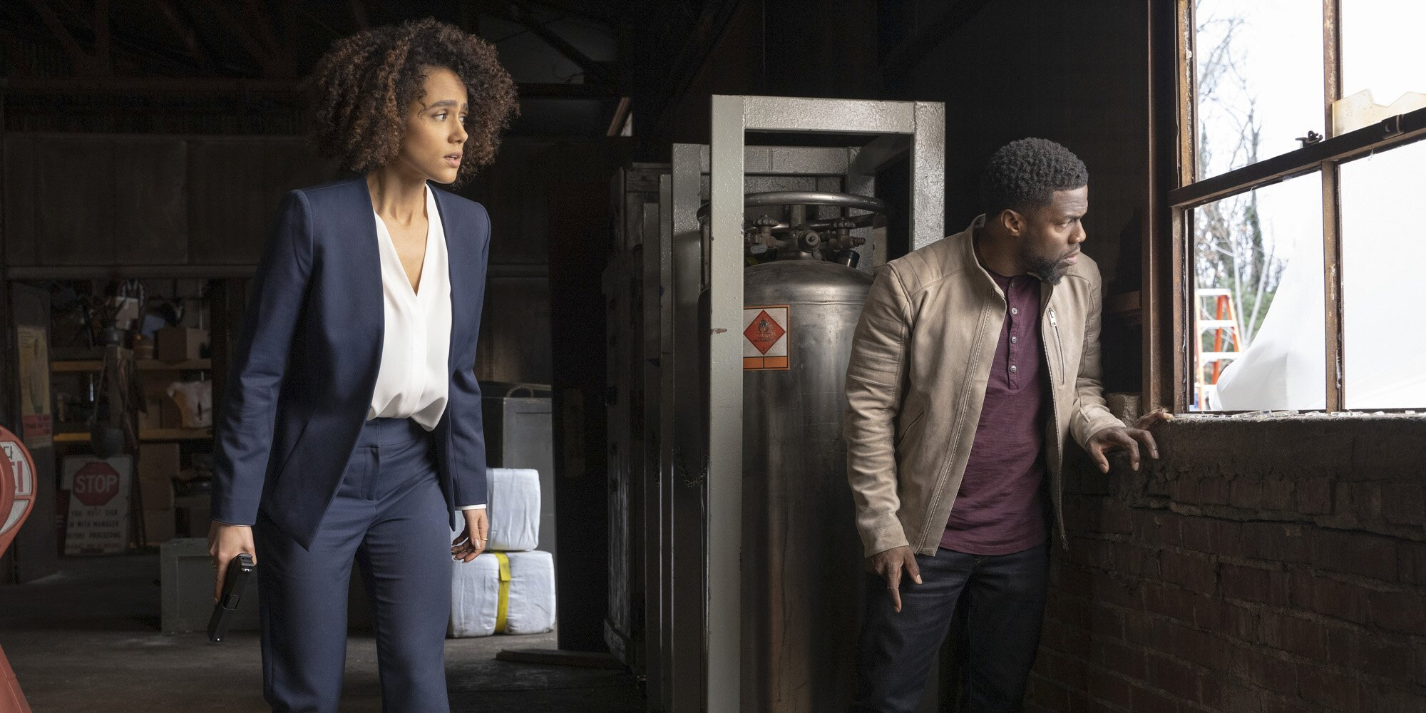 Nathalie Emmanuel and Kevin Hart in the upcoming series Die Hart exclusively on Quibi July 20 2020.