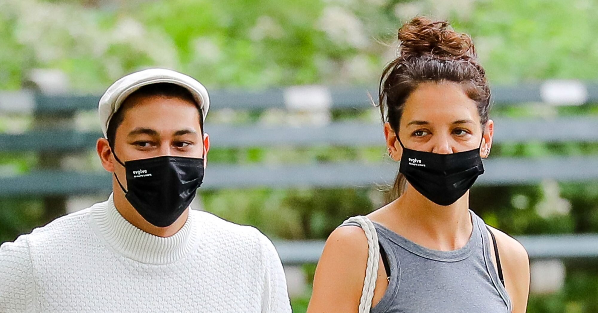 Katie Holmes and Her New Boyfriend Are at the 'Matching Face Masks' Relationship Stage