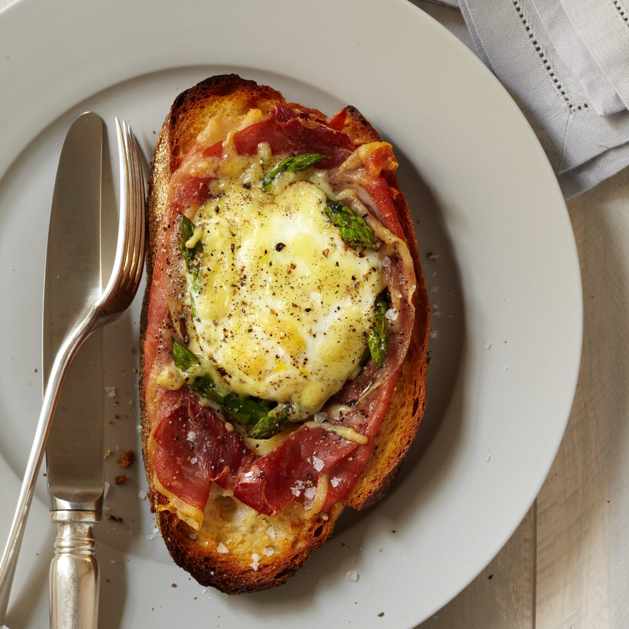 Baked Eggs With Spinach Asparagus And Prosciutto Recipe Quick