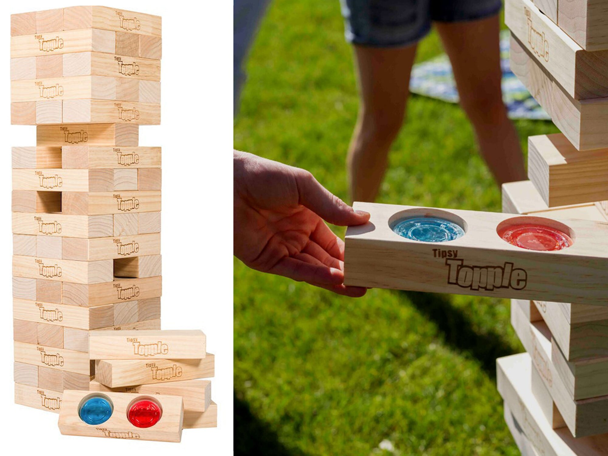 Cheers! This Giant Jenga-Inspired Set Is Filled With Hidden Jello Shots for the Best Drinking Game Ever