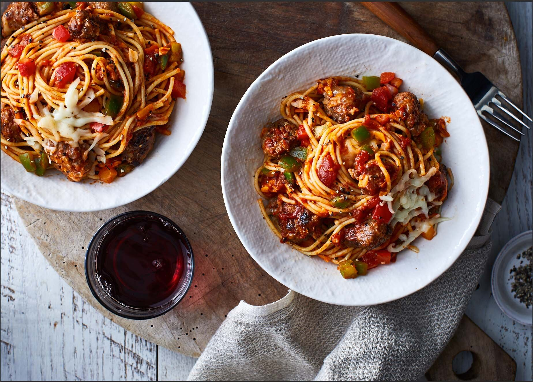 Slow-Cooker Four-Cheese Spaghetti with Italian Sausage