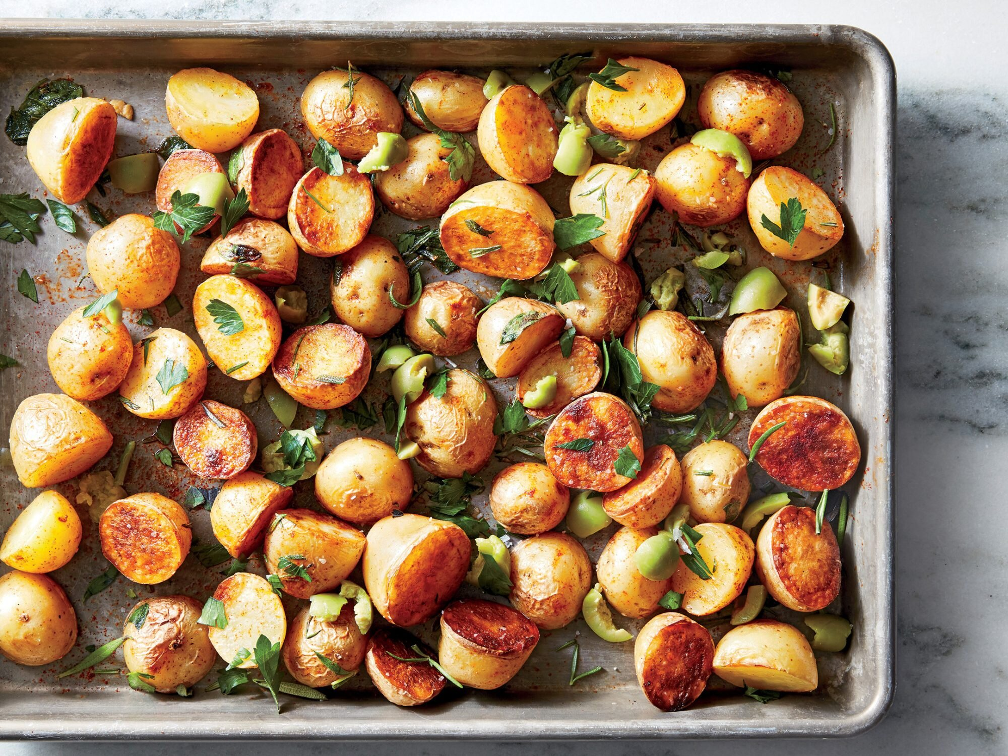 How to Make Oven Roasted Potatoes So They're Actually Crispy
