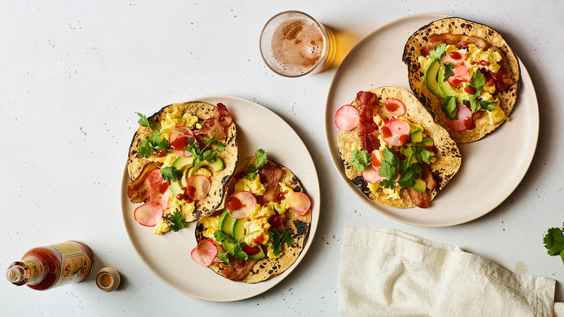 Crispy Bacon and Egg Tacos