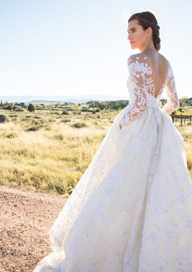 13 Celebrities Who Wore Long Sleeved Wedding Dresses Instyle Com