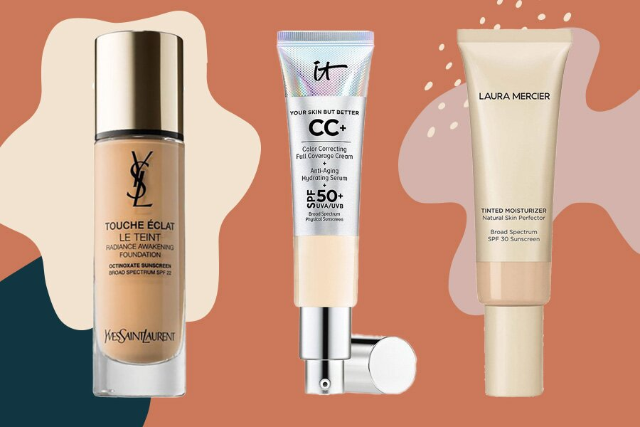 7 hydrating, transfer-proof foundations that won't rub off on your face mask