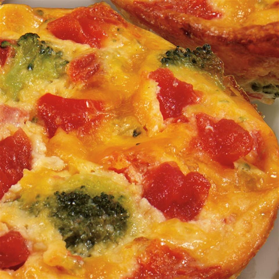 crustless broccoli and cheddar mini quiches recipe