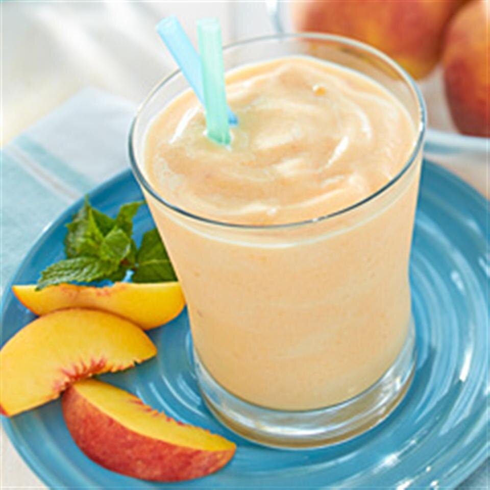 creamy white tea and peach smoothie recipe
