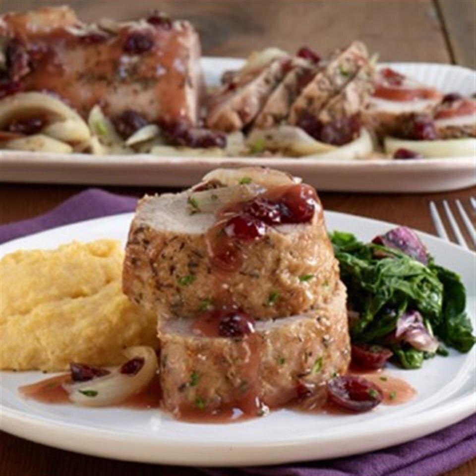 winter cranberry baked pork tenderloin