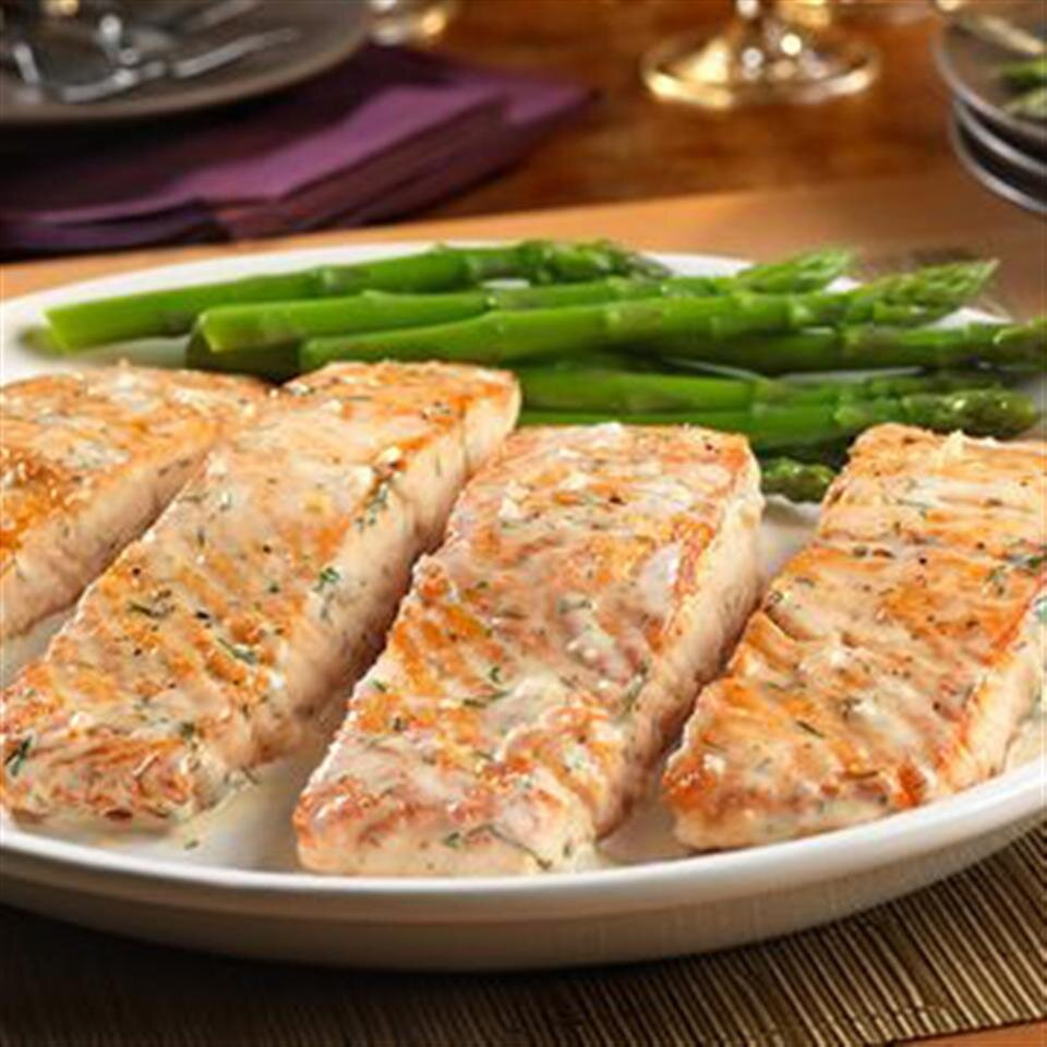 salmon with creamy dill sauce from swanson