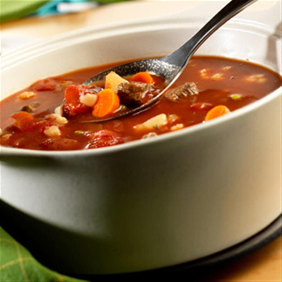 savory vegetable beef soup by swanson recipe