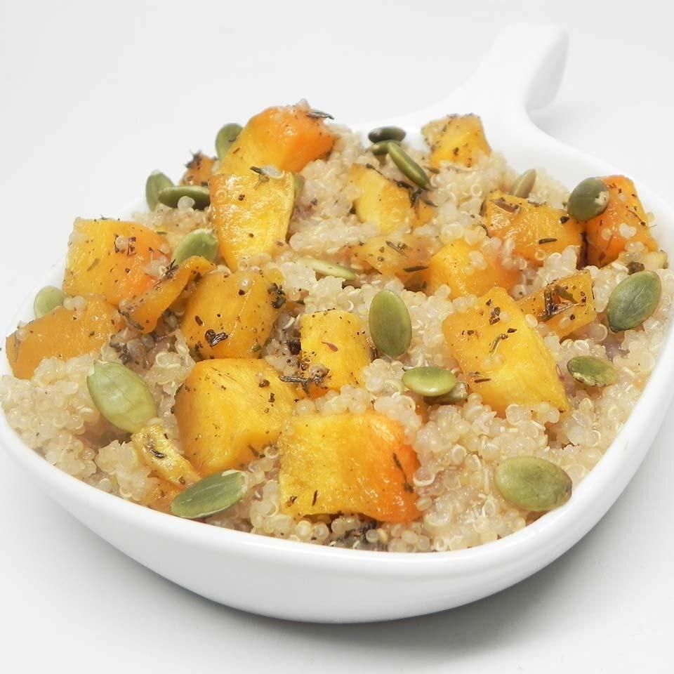 roasted butternut squash quinoa with pumpkin seeds recipe