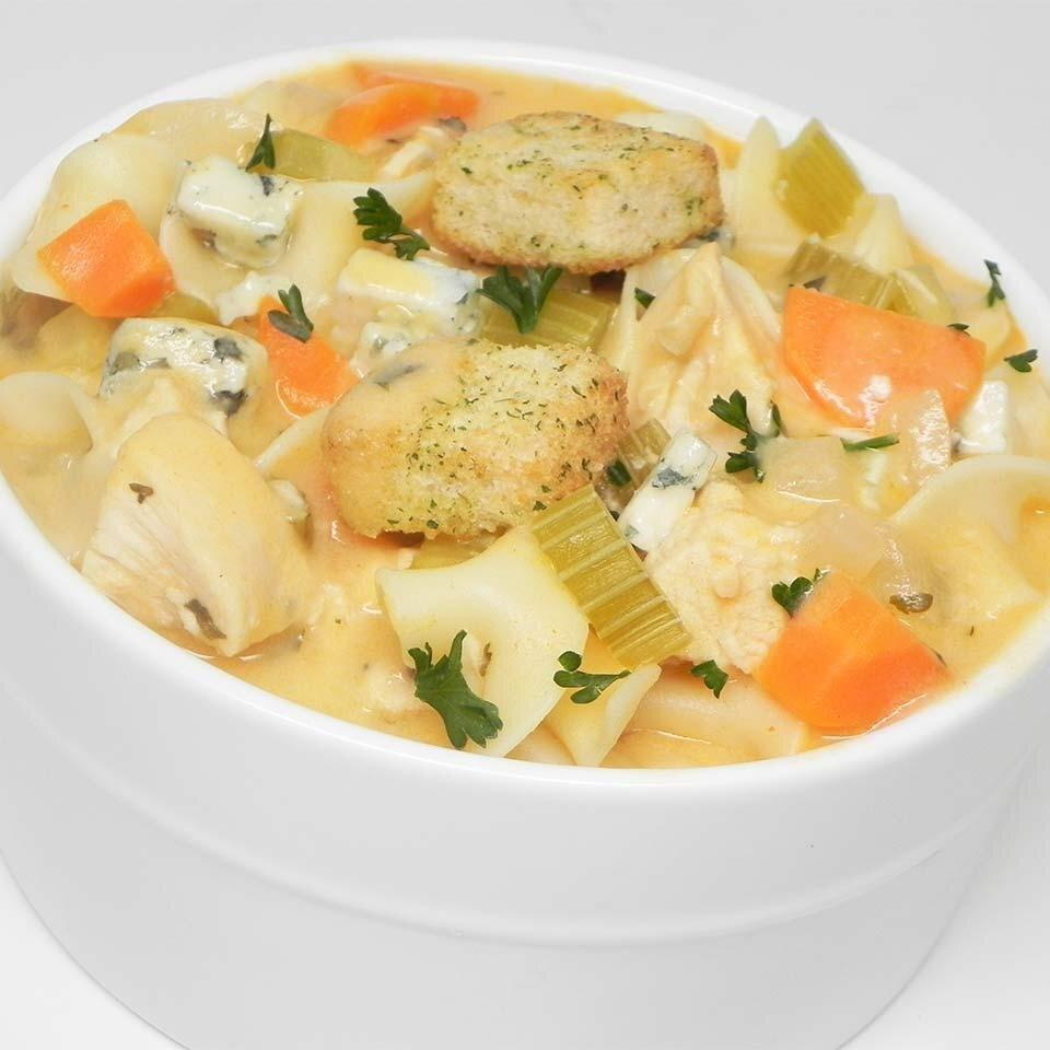 creamy buffalo chicken noodle soup recipe